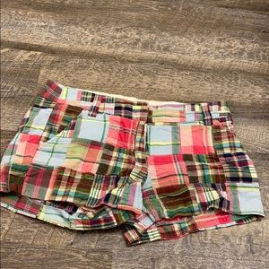 j.crew plaid shorts!